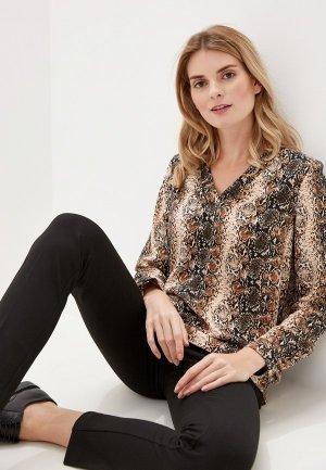 Блуза Argent. Цвет: коричневый