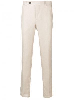 Классические строгие брюки Brunello Cucinelli. Цвет: бежевый