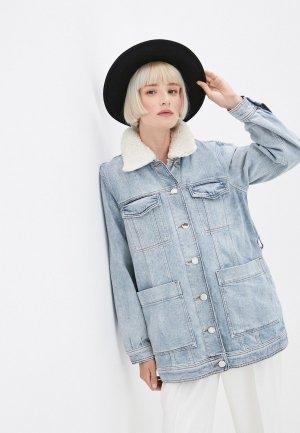 Куртка джинсовая Claudie Pierlot. Цвет: голубой