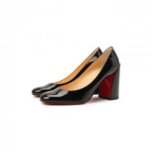 Кожаные туфли Miss Sab 85 Christian Louboutin. Цвет: чёрный