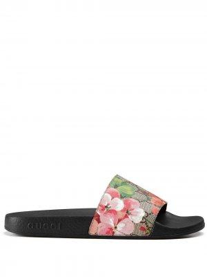 Сандалии GG Blooms Supreme Gucci. Цвет: черный