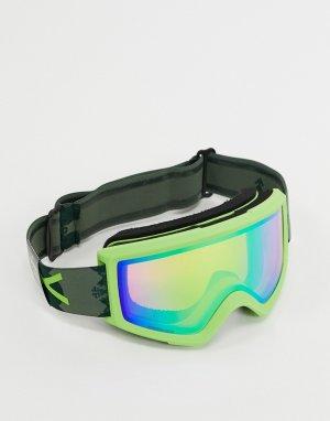 Зеленые горнолыжные очки с запасным стеклом Helix 2 Sonar-Зеленый Anon