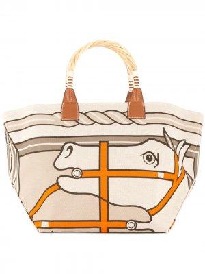 Сумка-тоут Sac Steeple Hermès. Цвет: нейтральные цвета