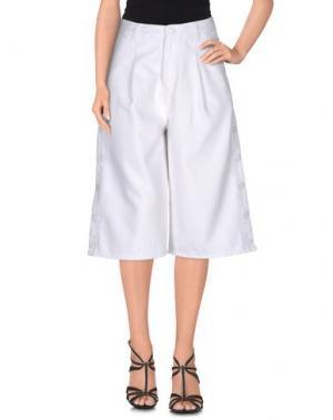 Джинсовые брюки-капри SJYP. Цвет: белый