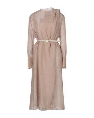 Платье длиной 3/4 FENDI. Цвет: телесный