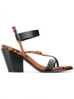 Босоножки на устойчивом каблуке A.F.Vandevorst. Цвет: коричневый
