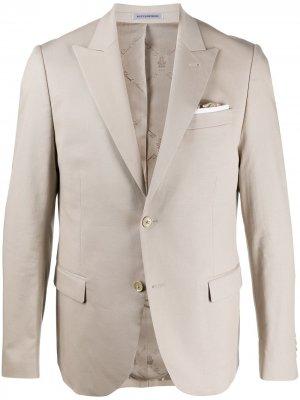 Пиджак строгого кроя Daniele Alessandrini. Цвет: нейтральные цвета