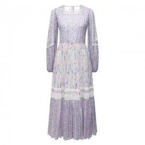 Платье из вискозы Ermanno Firenze. Цвет: сиреневый