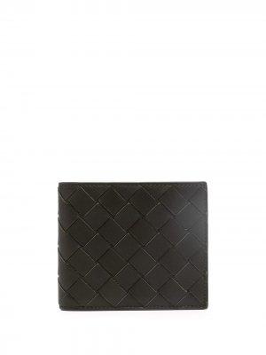Бумажник с плетением Intrecciato Bottega Veneta. Цвет: черный