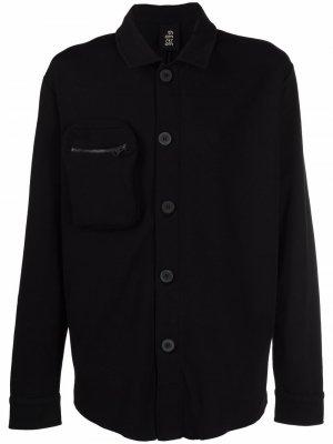 Однобортная куртка-рубашка Thom Krom. Цвет: черный