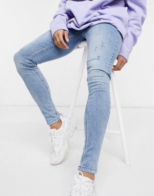 Голубые джинсы супероблегающего кроя -Голубой Criminal Damage