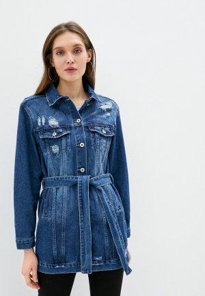 Куртка джинсовая Hailys Haily's. Цвет: синий