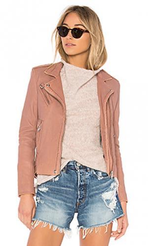 Кожаная куртка han IRO. Цвет: розовый