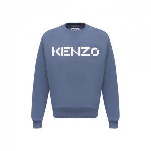 Хлопковый свитшот Kenzo. Цвет: синий