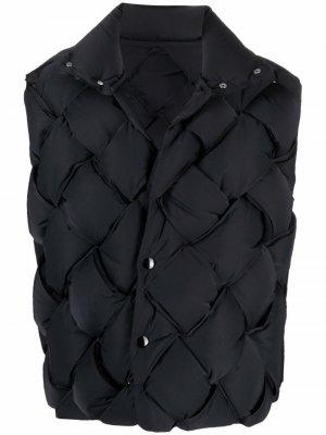 Дутый жилет Bottega Veneta. Цвет: черный