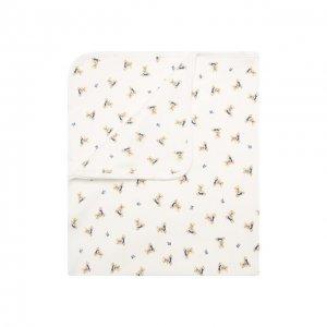 Хлопковое одеяло Polo Ralph Lauren. Цвет: разноцветный