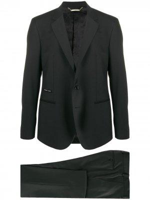 Строгий костюм-двойка Philipp Plein. Цвет: черный