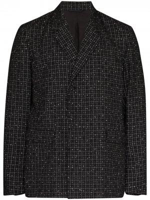 Твидовый пиджак Reflector в клетку NULABEL. Цвет: черный