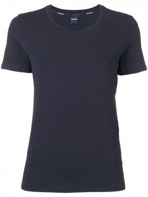 Классическая футболка Max Mara. Цвет: синий