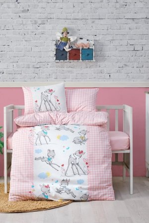 Baby quilt cover set Cotton box. Цвет: pink, white, blue