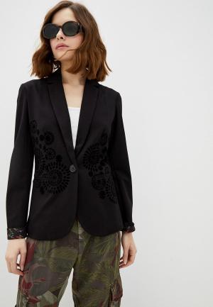 Пиджак Desigual. Цвет: черный