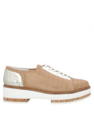 Обувь на шнурках GUIDO SGARIGLIA. Цвет: верблюжий