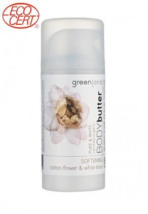 Крем для тела Greenland цветки хлопка-белый лотос. Цвет: белый