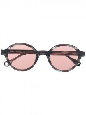 Солнцезащитные очки Baka Yoko в круглой оправе Etudes. Цвет: черный