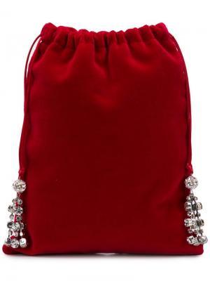 Мини-сумка с отделкой Ca&Lou. Цвет: красный