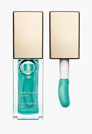 Блеск для губ Clarins масло, Lip Comfort Oil, 06 mint, 7 мл. Цвет: бирюзовый