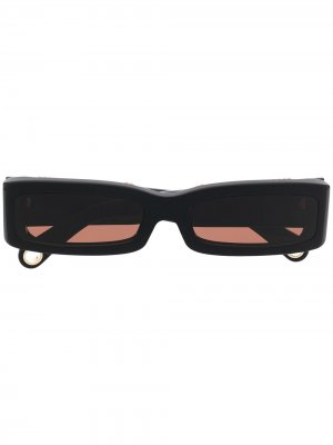 Солнцезащитные очки Les Lunettes 97 Jacquemus. Цвет: черный