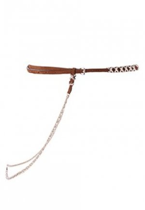 Кожаный пояс с цепочкой ERMANNO SCERVINO. Цвет: коричневый