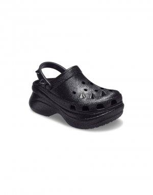 Черные клоги с блестящими заклепками на платформе Bae-Черный цвет Crocs