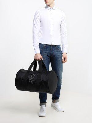 Дорожная сумка EA7 Emporio Armani. Цвет: chernyy