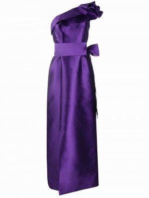 Платье с оборками Alberta Ferretti. Цвет: фиолетовый