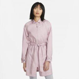 Женский тренч из тканого материала Nike Sportswear Windrunner - Розовый