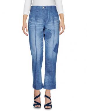 Джинсовые брюки-капри JULIEN DAVID. Цвет: синий