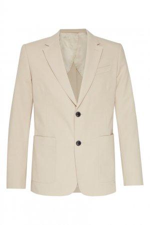 Бежевый пиджак Ami Paris. Цвет: коричневый