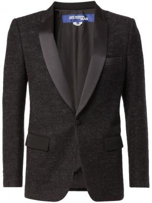 Вязаный пиджак-смокинг Junya Watanabe Comme Des Garçons Man. Цвет: чёрный