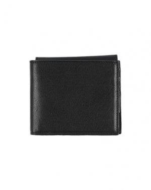 Бумажник ANN DEMEULEMEESTER. Цвет: черный