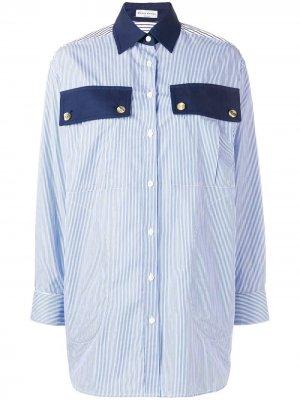 Классическая рубашка в полоску Sonia Rykiel. Цвет: синий