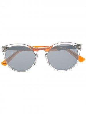 Солнцезащитные очки с затемненными круглыми линзами Diesel. Цвет: нейтральные цвета