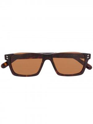 Солнцезащитные очки в полуободковой оправе Stella McCartney Eyewear. Цвет: коричневый