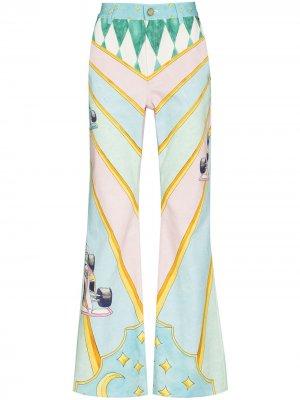 Расклешенные джинсы La Course Ideale Casablanca. Цвет: розовый