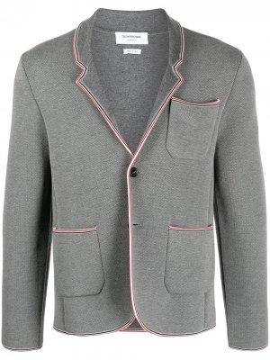 Пиджак с полосками RWB Thom Browne. Цвет: серый