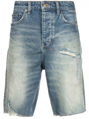 Джинсовые шорты с логотипом Ksubi. Цвет: синий