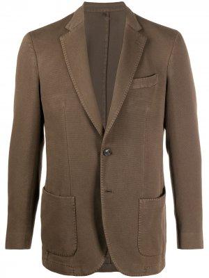 Delloglio однобортный пиджак Dell'oglio. Цвет: коричневый