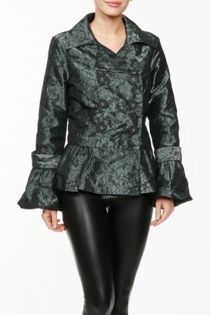 Жакет LAFEI-NIER. Цвет: темно-зеленый