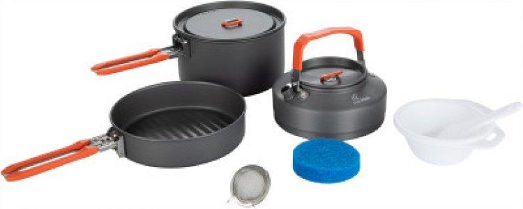 Набор посуды: котелок, сковорода, чайник FEAST 2 Fire-Maple. Цвет: серый