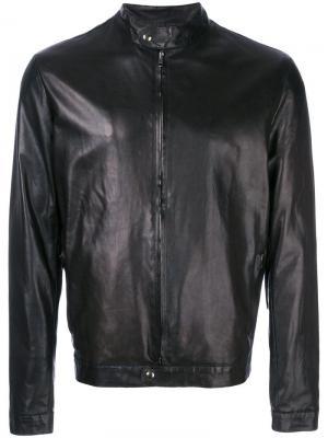 Приталенная кожаная куртка Salvatore Santoro